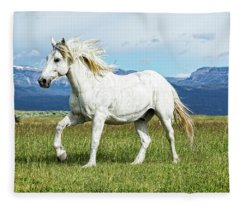 Mane And Feet Flying  Fleece Blanket