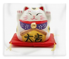 Maneki Neko Fleece Blanket