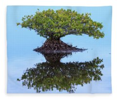 Mangrove Reflection Fleece Blanket
