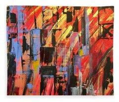 Manhattan Life Fleece Blanket