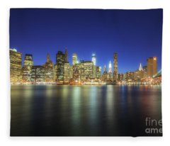 Manhattan Nite Lites Nyc Fleece Blanket