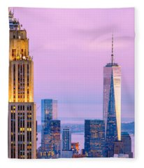 Manhattan Romance Fleece Blanket