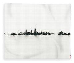 Manhattan Silhouette Fleece Blanket