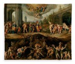 Mankind's Eternal Dilemma, The Choice Between Virtue And Vice Fleece Blanket