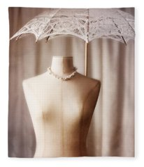 Mannequin With Parasol Fleece Blanket