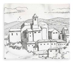 Mansion On The Hills Fleece Blanket