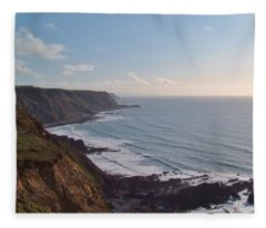Mansley Cliff And Gull Rock From Longpeak Fleece Blanket