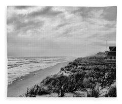Mantoloking Beach - Jersey Shore Fleece Blanket