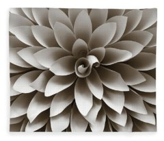 Many Petals Dahlia Fleece Blanket