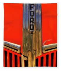 Manzanar Fire Truck Hood And Grill Detail Fleece Blanket