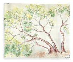 Manzanita Tree Fleece Blanket