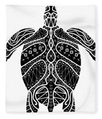Maori Turtle Fleece Blanket