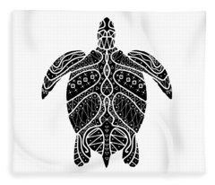 Maori Turtle Fleece Blanket