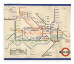 Map Of The London Underground - London Metro - 1933 - Historical Map Fleece Blanket