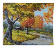 Maple Road Fleece Blanket
