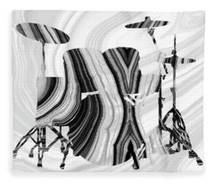 Marbled Music Art - Drums - Sharon Cummings Fleece Blanket