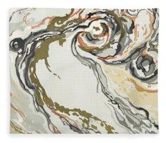 Marbled Pattern Fleece Blanket