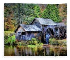 Mabry Mill A Blue Ridge Parkway Favorite Fleece Blanket