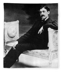 Marcel Proust, French Author Fleece Blanket