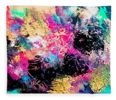 Mardi Gras 1 Fleece Blanket