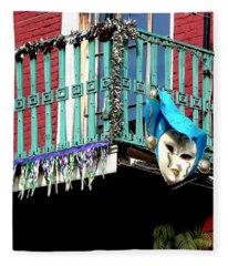Mardi Gras Balcony Fleece Blanket