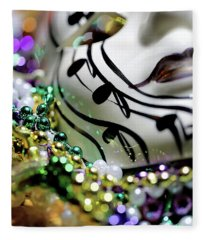 Mardi Gras I Fleece Blanket