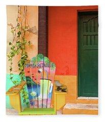 Margaritaville In Tropical Colors Fleece Blanket