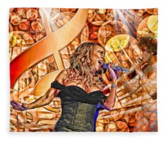 Mariah And Whitney-when You Believe Fleece Blanket