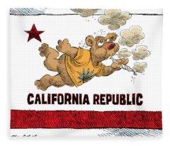 Marijuana Referendum In California Fleece Blanket