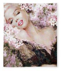 Marilyn Cherry Blossom B Fleece Blanket