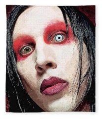 Marilyn Manson Fleece Blanket