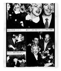 Marilyn Monroe And Joe Dimaggio 1950s Photos By Unknown Japanese Photographer Fleece Blanket