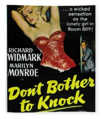 Marilyn Monroe And Richard Widmark In Don't Bother To Knock Fleece Blanket