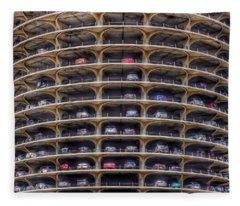 Marina City Chicago Fleece Blanket