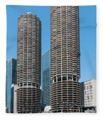 Marina City Fleece Blanket