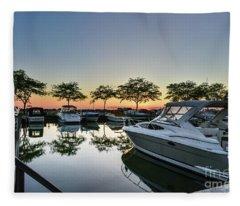Marina Morning Fleece Blanket