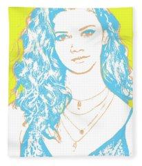 Marina Nery Pop Art Fleece Blanket