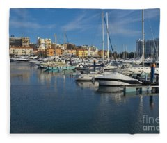 Marina Of Vilamoura At Afternoon Fleece Blanket