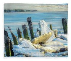 Marina On The Rocks Fleece Blanket