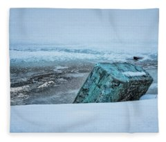 Marina Winter Ice Fleece Blanket