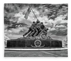Marine Corps War Memorial Fleece Blanket