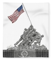 Marine Corps War Memorial - Iwo Jima Fleece Blanket