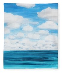 Marine Layer Breaking Up Fleece Blanket