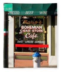 Mario's Bohemian Cigar Store Cafe Fleece Blanket
