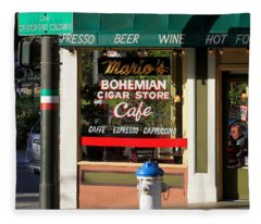 Mario's Bohemian Cigar Store Cafe Fleece Blanket