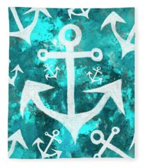 Maritime Anchor Art Fleece Blanket