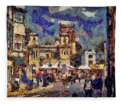 Market Square Monday Fleece Blanket