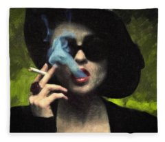 Marla Singer Fleece Blanket