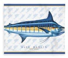 Marlin Id Fleece Blanket