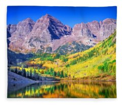 Maroon Bells Fleece Blanket